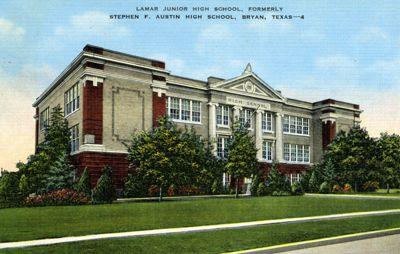 Lamar Junior High School, formerly Stephen F. Austin High School, Bryan, Texas.